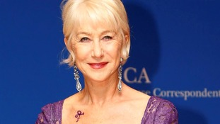 Helen Mirren pays tribute to Prince with purple dress and tattoo at White House correspondents dinner