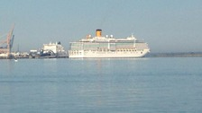 First cruise ship of season sails into Harwich