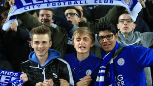Leicester City football fans are gearing up to celebrate if the Foxes bet Manchester United today.