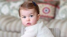 Princess Charlotte seen in new photos ahead of first birthday