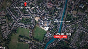 Location of Spalding house fire