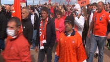 Blackpool fans protest as club is on brink of relegation