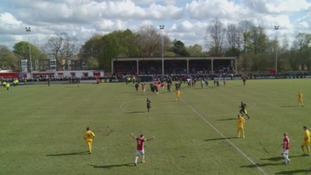 Workington Reds lose 3-2 in Evo-Stik playoff final