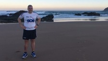 Charity runner begins 3,400 mile challenge