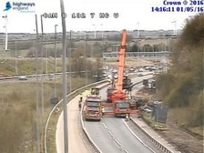 Queueing traffic on the M6 due to recovery works.