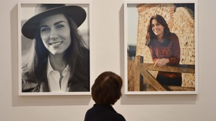 Duchess in relaxed pose as new photo portraits go on display