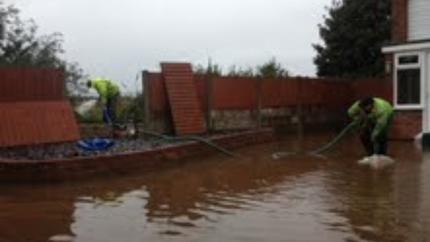 Heavy rainfall has led to flooding at Fouracres in Maghull