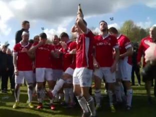 Salford City FC celebrate promotion