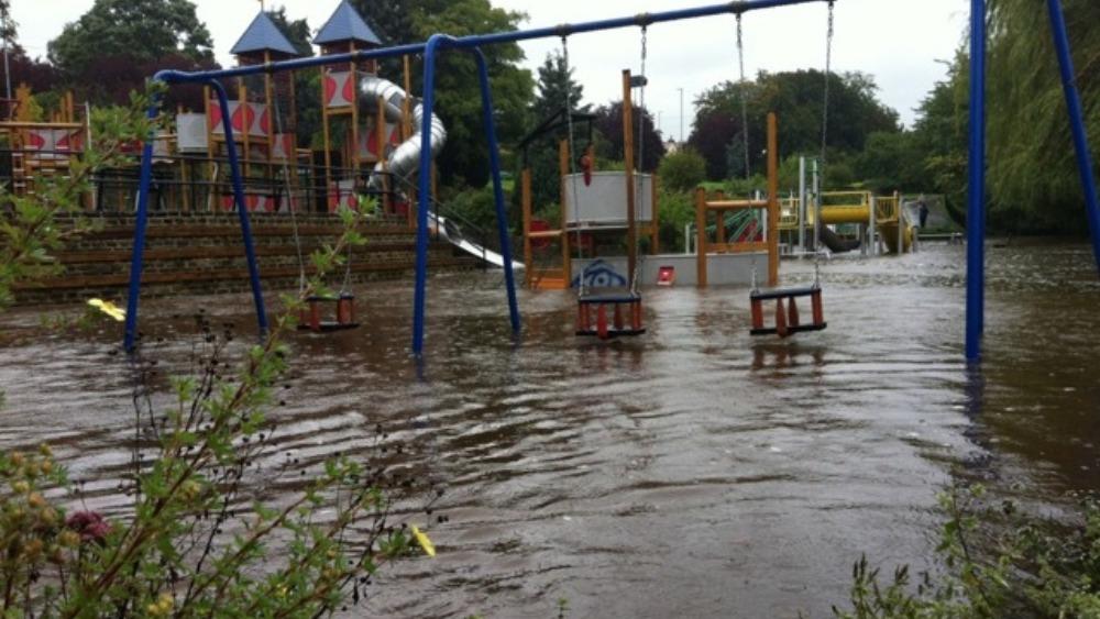 Flooded Park At Otley Calendar Itv News