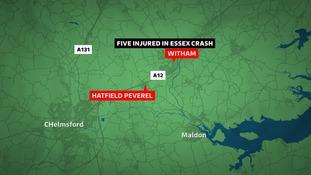 One arrest after Essex crash injures five people