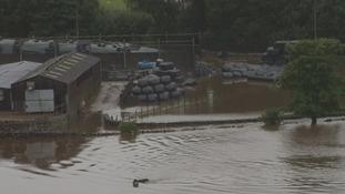 Smardale village cut off by flood water