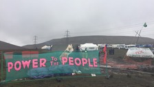 Protesters gather in attempt to close down opencast mine