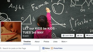 'Let out Kids be Kids' Facebook page.