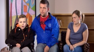 Lewis Pierce with mum Michelle and dad Matt