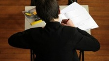 Student sitting exam