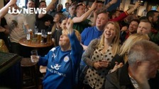 Celebrations as Leicester City win the Premier League