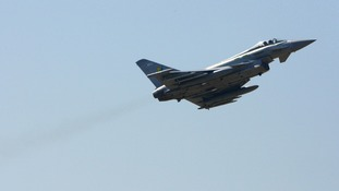 The sonic boom was caused by an RAF Typhoon