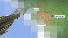 RAF Fighter jet creates sonic booms which are heard across Yorkshire