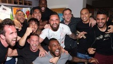 Leicester players go wild after Premier League triumph