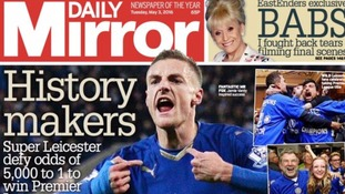 'Zeroes to heroes': Leicester's Premier League success on Tuesday's front pages