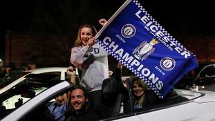 Leicester City celebrate winning Premier League title