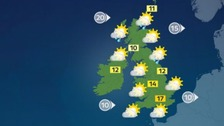 Blue skies to begin across much of England and Wales