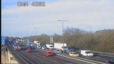 Eighteen miles of queueing traffic on M4 after accident