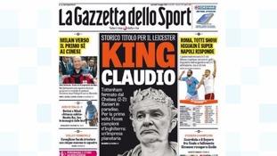 The front page of Tuesday's La Gazzetta dello Sport.