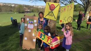 Schoolchildren are protesting across the country
