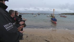 Gig built by wounded veterans arrives in the Isles  of Scilly