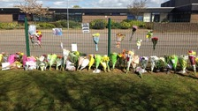 Flowers have been laid at Thurston Community College today.