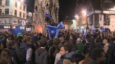 The celebrations continued at the Clock Tower