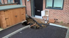 Residents evacuated from homes as sinkhole appears