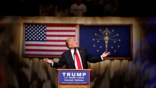 Donald Trump at a campaign rally in Indiana