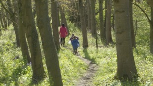 Children on a nature walk in Darlington