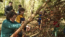 Over 100 children built dens, made sculptures out of twigs and things they found in the forest and went scavenger hunting.