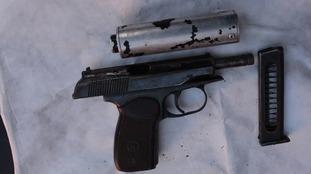 Loaded gun with silencer found in Norris Green garden