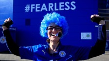 Leicester City celebrate winning Premier League title