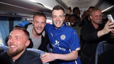 Leicester City invite Vardy lookalike on to team bus