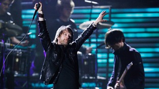 Radiohead performing in 2009