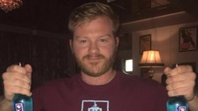 Clarets fan Sean Keyes