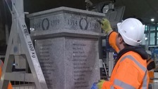 Lost war memorial is replaced at Piccadilly Station
