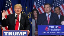 Trump 'presumptive' Republican nominee as Cruz pulls out
