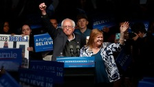 Sanders trails Hillary Clinton in the Democratic race.