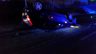 One person hospitalised after crash