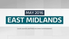Which councils have had elections in the East Midlands?