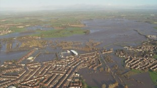 Carlisle under flood water