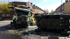 Two lorries involved in crash in Leicestershire