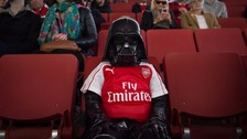 Dad dresses four-year-old son as little Darth Vader