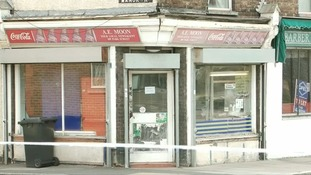 The Moon's newsagents in Luton.